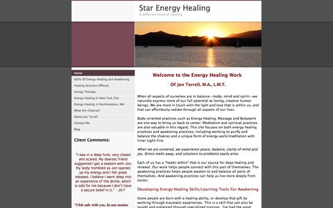 Screenshot of Home Page star-energy-healing.com - Star Energy Healing - A different kind of healing - captured Oct. 7, 2014