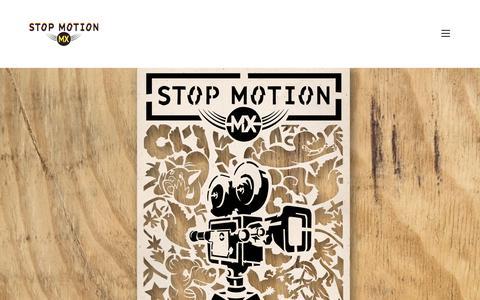 Screenshot of Home Page stopmotionmx.com - Festival Internacional StopMotion MX - captured Dec. 5, 2016