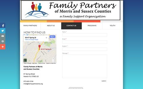 Screenshot of Privacy Page Contact Page familypartnersms.org - Contact Us - captured Oct. 23, 2014