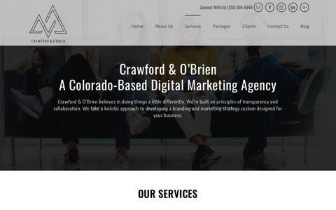 Screenshot of Services Page crawfordandobrien.com - The Wide Range of Services We Offer - Crawford and O'Brien - captured Nov. 11, 2018
