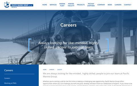 Screenshot of Jobs Page pacificmarinegroup.com.au - Pacific Marine Group |  Careers - captured Nov. 4, 2018