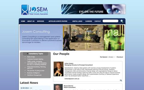 Screenshot of Team Page josem.com.au - :: Josem Consulting - captured Nov. 27, 2016