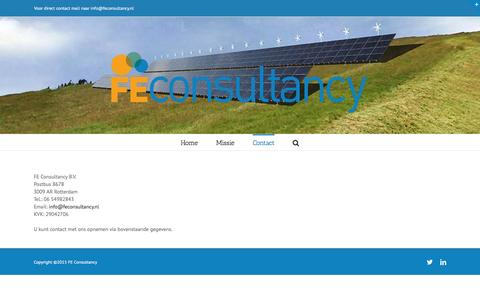 Screenshot of Contact Page feconsultancy.nl - Contact - FE consultancy - captured Feb. 9, 2016