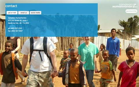 Screenshot of Contact Page canadianhumanitarian.com - contact | canadian humanitarian - captured Sept. 27, 2014