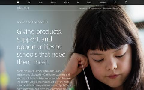 Screenshot of apple.com - Education - ConnectED - Apple - captured March 22, 2016