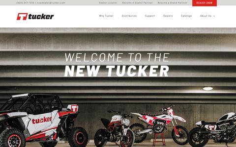 Screenshot of Home Page tucker.com - Home - Tucker Powersports - captured Sept. 22, 2018