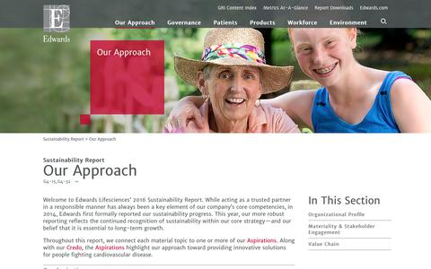 Edwards 2016 Sustainability Report   Our Approach