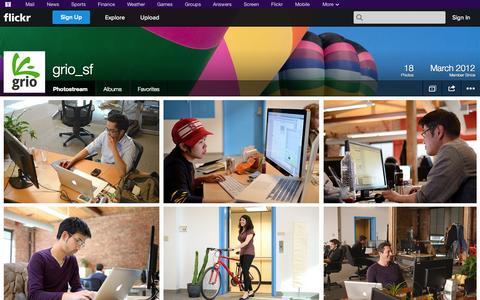 Screenshot of Flickr Page flickr.com - Flickr: grio_sf's Photostream - captured Oct. 23, 2014