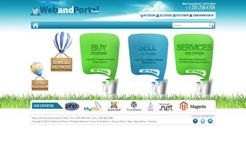 Screenshot of Home Page webandportal.com - Web and Portal.com | Mobile Apps, Social Media Optmization,  Web Development, Application Development, Custom Website Design - captured Feb. 25, 2016