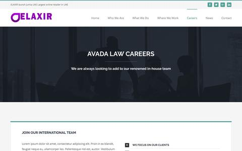 Screenshot of Jobs Page elaxir.com - Careers – Elaxir - captured May 15, 2017