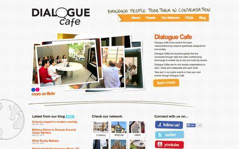 Screenshot of Home Page dialoguecafe.org - Dialogue Café | Homepage - captured Sept. 30, 2014