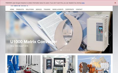Screenshot of Menu Page yaskawa.eu.com - YASKAWA Europe - Yaskawa Europe GmbH - captured May 29, 2018