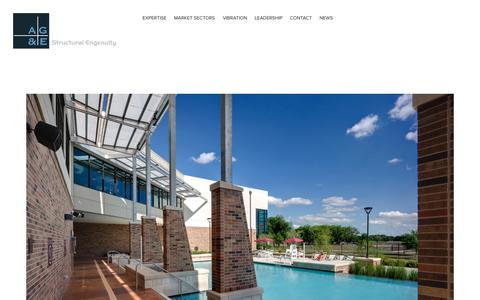 Screenshot of Home Page age-se.com - AG&E- Structural Engenuity - captured Oct. 4, 2014