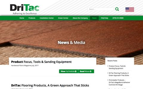 Screenshot of Press Page dritac.com - Commercial, Industrial & Residential Flooring Industry News - DriTac - captured Oct. 13, 2017