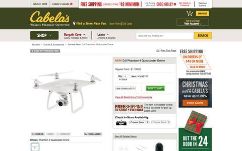 DJI Phantom 4 Quadcopter Drone : Cabela's