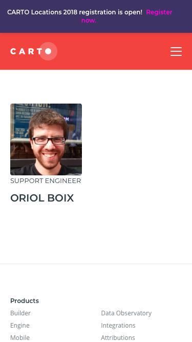 Screenshot of Team Page  carto.com - CARTO