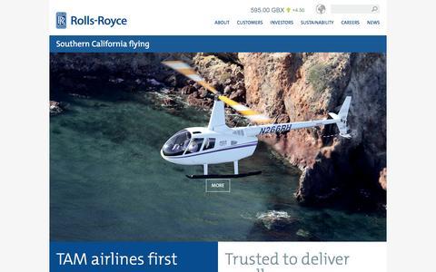 Screenshot of Home Page rolls-royce.com - Rolls-Royce - captured Dec. 25, 2015