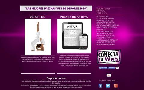 Screenshot of Home Page buscadeporte.es - Las mejores páginas de deporte 2016 - Buscadeporte - captured March 14, 2016