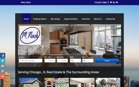 Screenshot of Home Page mnack.com - Lincoln Square Chicago, Illinois Real Estate | Mary Nack | Real Estate | Homes For Sale | Chicago | Illinois | Property Search - captured Oct. 6, 2014