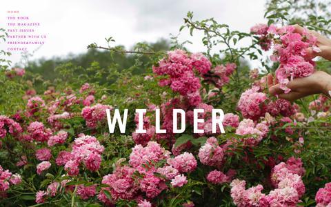 Screenshot of Home Page wilderquarterly.com - A Wilder World - captured March 3, 2016