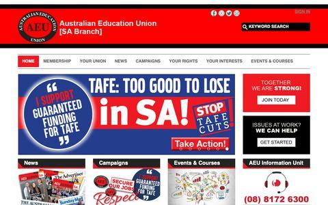 Screenshot of Home Page aeusa.asn.au - Home - captured Oct. 4, 2018