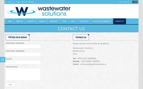 Screenshot of Contact Page wastewatersolutions.ie - Wastewater SolutionsContact Us - Wastewater Solutions - captured June 19, 2017