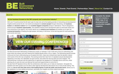 Screenshot of About Page built-environment-networking.com - About Us | Built Environment Networking Events & Conferences - captured Oct. 7, 2018
