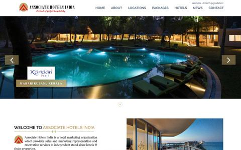 Screenshot of Home Page associatehotelsindia.com - Associate Hotels India - captured July 26, 2016