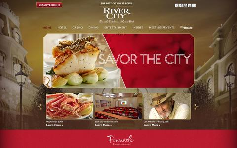 Screenshot of Home Page rivercity.com - St. Louis Casino & Hotel | Missouri » River City - captured Jan. 26, 2015