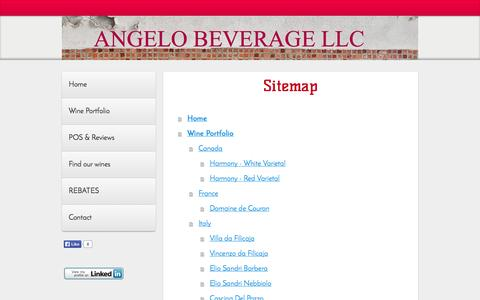 Screenshot of Site Map Page angelobev.com - Sitemap - Website of angelobev! - captured Oct. 4, 2014