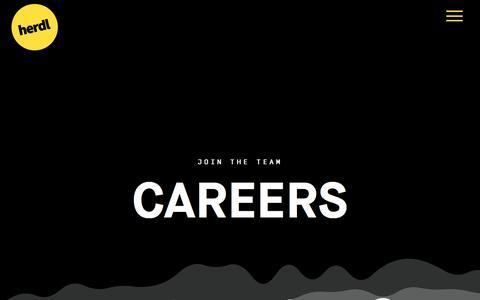 Screenshot of Jobs Page herdl.com - Careers - Herdl - captured July 18, 2018