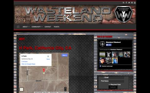 Screenshot of Maps & Directions Page wastelandweekend.com - MAPS   Wasteland Weekend - captured Oct. 27, 2014