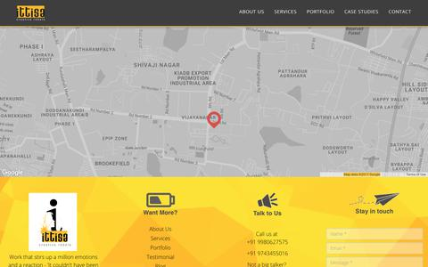 Screenshot of Contact Page ittisa.com - Contact us   Ittisa - captured June 8, 2017