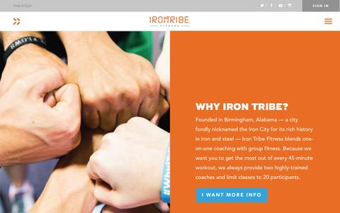 Screenshot of About Page irontribefitness.com - Learn about the nationally ranked workout program: Iron Tribe Fitness - captured July 8, 2016