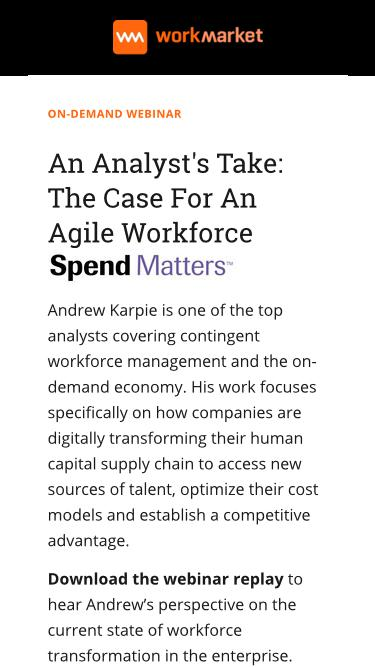 An Analyst's Take: The Case for an Agile Workforce with Andrew Karpie