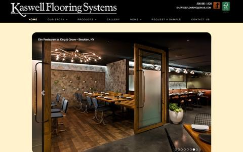 Screenshot of Home Page kaswell.com - Wood Block Flooring by Kaswell Flooring Systems - captured Feb. 12, 2016