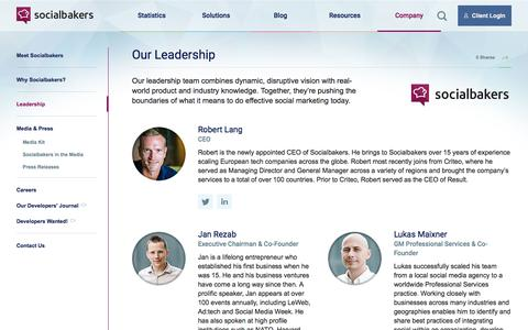 Screenshot of Team Page socialbakers.com - Meet our global team | Socialbakers - captured July 26, 2016
