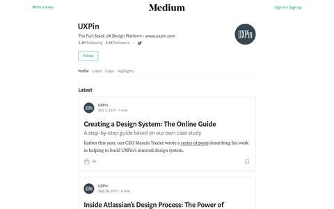 UXPin – Medium
