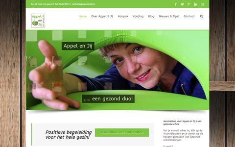Screenshot of Home Page appelenjij.nl - Appel en Jij samen naar een gezond gewicht | gewichtsconsulente - captured Oct. 4, 2014