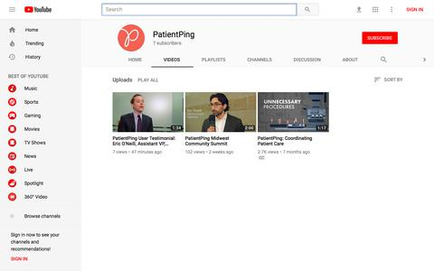 PatientPing - YouTube - YouTube
