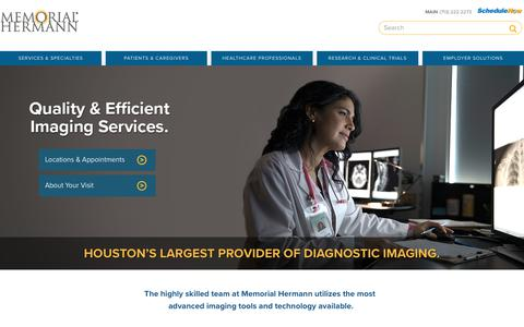 Imaging Centers  |  Memorial Hermann
