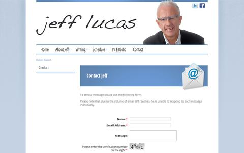 Screenshot of Contact Page jefflucas.org - Jeff Lucas Official Website | Contact - captured Oct. 26, 2018