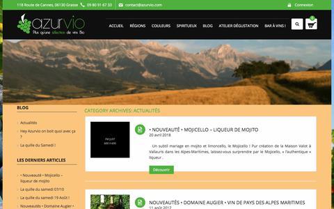 Screenshot of Blog azurvio.com - Actualités Archives - Azurvio - captured July 31, 2018