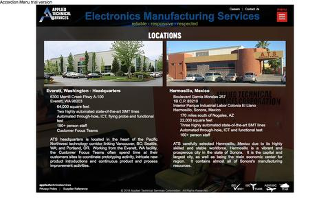 Screenshot of Locations Page appliedtechnicalservices.com - Applied Technical Services Corporation - Who We Are - Locations - captured May 30, 2017