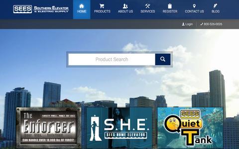 Screenshot of Home Page seesinc.com - SEES, Inc. Elevator Parts - HOME - captured Dec. 18, 2015