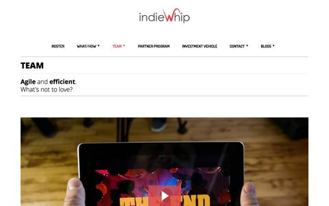 Screenshot of Team Page indiewhip.com - Working for a Video and Motion Graphic Agency | IndieWhip - captured Sept. 30, 2014