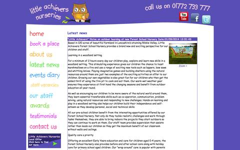 Screenshot of Press Page rosyapplechildcare.com - Latest News | Rosy Apple Childcare - captured Oct. 6, 2014