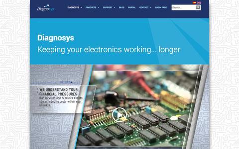 Screenshot of Home Page diagnosys.com - Diagnosys - Diagnosys - captured Oct. 7, 2014