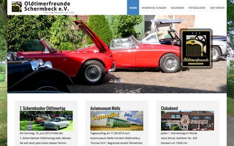 Screenshot of Home Page oldtimerfreunde-schermbeck.de - Oldtimerfreunde Schermbeck e.V. - Der Oldtimerverein seit 2003 - Home - captured June 8, 2016