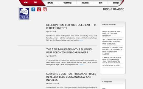 Screenshot of Blog quixlauto.com - Blog - captured Oct. 3, 2014